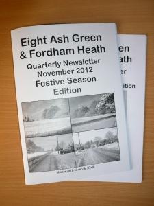Village Newsletter Cover November - 2012